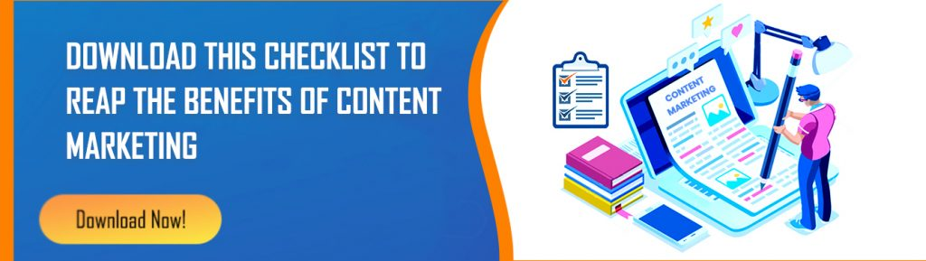 Checklist for content marketing for manufacturing industry